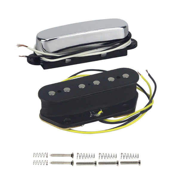 FLEOR Tele Pickup Set Neck & Bridge Pickup Ceramic For Telecaster Style Guitar Parts - iknmusic