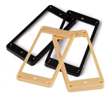 FLEOR 2PCS Flat Plastic Electric Guitar Humbucker Pickup Rings Frames | iknmusic