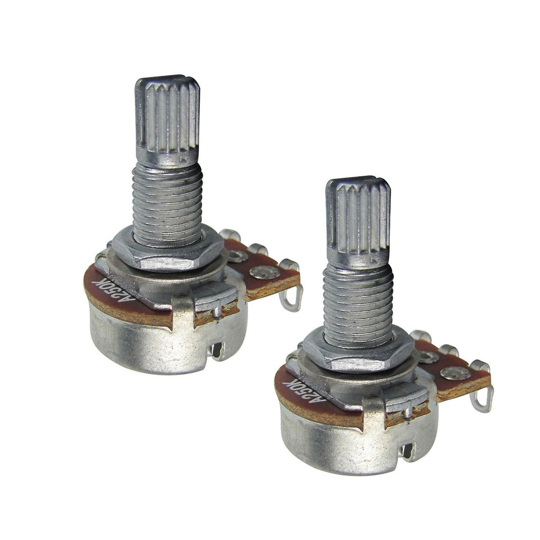 FLEOR Long Split Shaft Mini Guitar Potentiometers Pots 250k /500k - iknmusic