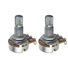 Load image into Gallery viewer, FLEOR Long Split Shaft Mini Guitar Potentiometers Pots 250k /500k - iknmusic