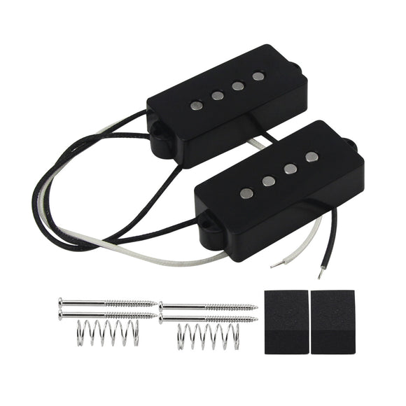 FLEOR Alnico 5 PB Bass Pickup Set Passive Pickup for 4 Strings FD Precision Bass - iknmusic