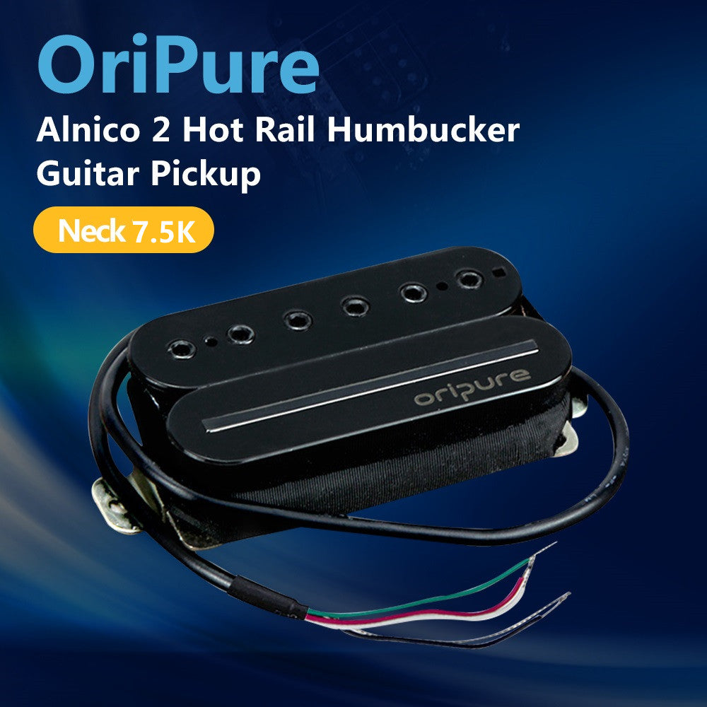 OriPure Alnico 2 Rail Humbucker Pickup Guitar Pickup for Neck Position-Warm Sound - iknmusic