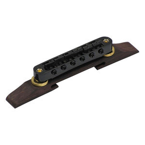 FLEOR Electric Guitar Tune-O-Matic Bridge Adjustable with Rosewood Base for Archtop Jazz Guita - iknmusic