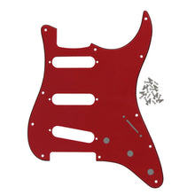 Load image into Gallery viewer, FLEOR 3Ply PVC SSS Guitar Pickguard Scratch Plate with Screws for Mexican/USA Standard 11 Holes Strat Guitar - iknmusic