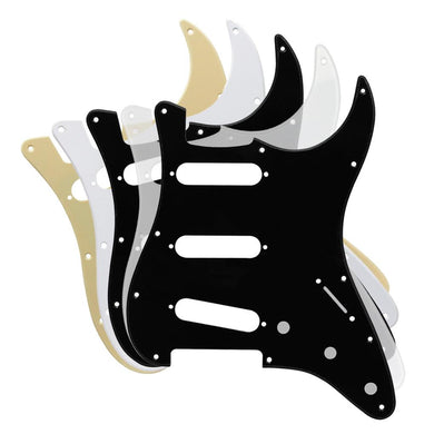 FLEOR 1Ply SSS Guitar Pickguard Strat 11 Hole with Screws | iknmusic