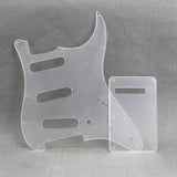 FLEOR Set of SSS Guitar Pickguard Back Plate Tremolo Cover 1Ply PVC with Screws for Mexican/American Standard 11 Holes Strat Guitar - iknmusic