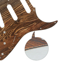 Load image into Gallery viewer, FLEOR Wood Color Strat Pickguard SSS Guitar Scratch Plate  | iknmusic