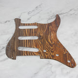 FLEOR Wood Color Strat SSS Pickguard Scratch Plate 3Ply PVC with Screws for 11 Holes American / Mexican Modern Standard Strat Guitar Parts - iknmusic