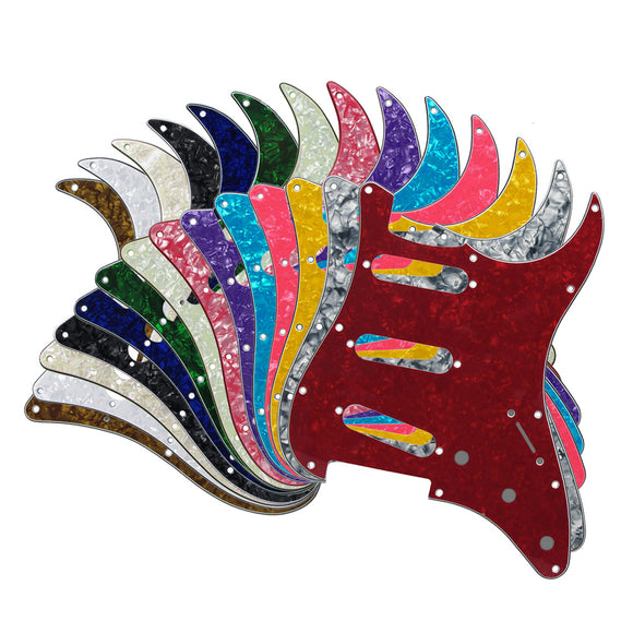 FLEOR Pearloid Pickguard SSS Guitar Scratch Plate with Screws for 11 Holes Mexican/USA Standard Strat Guitar