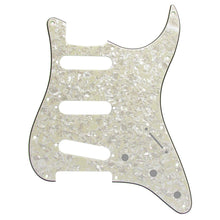 Load image into Gallery viewer, FLEOR 11 Hole SSS Guitar Pickguard Back Plate Aged Pearl | iknmusic