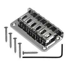 Load image into Gallery viewer, FLEOR Hardtail Bridge Top Load Electric Guitar Bridge 78mm for Strat Guitar Parts - iknmusic
