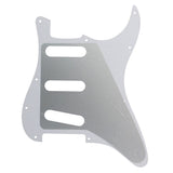 FLEOR Set of Left Handed Electric Guitar Pickguard SSS 11 Holes & Back Plate & Screws ,7 Colors Available - iknmusic