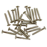 FLEOR 20pcs Pickup Screws Guitar Single Coil Pickup Mounting Screws 3x22mm Silver Color - iknmusic