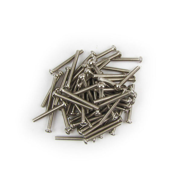 FLEOR 30pcs Guitar Humbucker Pickup Mounting Screws 3x26mm Silver for Electric Guitar Accessories - iknmusic