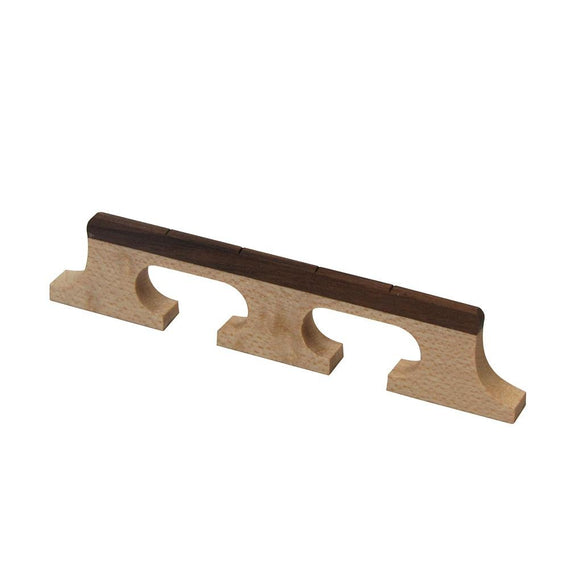 FLEOR 4 String Banjo Bridge Rosewood & Maple Material for Banjo Parts - iknmusic