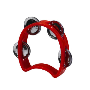 FLEOR 1PCS Plastic Hand Held Shaking Tambourine Rhythm Percussion Musical Instrument For Baby Kid - iknmusic