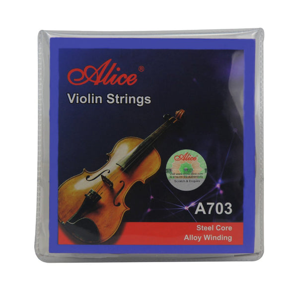 Alice Violin Strings E/A/D/G String Set Steel Strings A703 for 1/4 1/2 3/4 4/4 Violins - iknmusic