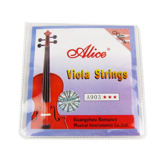 Alice A903 Viola String Set A/D/G/C Strings Steel Core & Nickel Silver Wound for 4/4 Size Viola - iknmusic