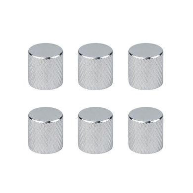 FLEOR 6PCS Metal Guitar Knobs Flat-top Chrome | iknmusic