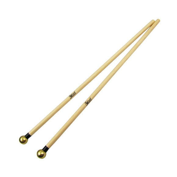 Fleet Pair of Glockenspiel Xylophone Bells Mallets Drumsticks Brass Head for Percussion Instruments - iknmusic