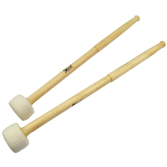 FLEET Pair of Timpani Mallets Precussion Drumsticks Soft Felt Head Maple Handle for Percussion Instruments Parts - iknmusic