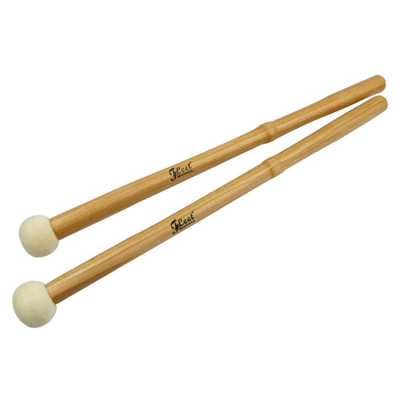 FLEET 1 Pair of Timpani Mallets Percussion Drum Mallets Drumsticks Maple Handle&Hard Felt Head - iknmusic