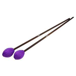 FLEET Pair of Marimba Mallets Drum Mallets Soft Yarn Head Purple & Maple Shaft for Pianissimo Playing - iknmusic