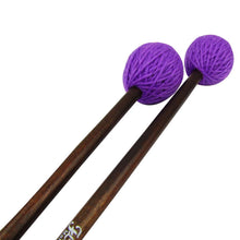 Load image into Gallery viewer, FLEET Pair of Marimba Mallets Purple Soft Yarn Head | iknmusic
