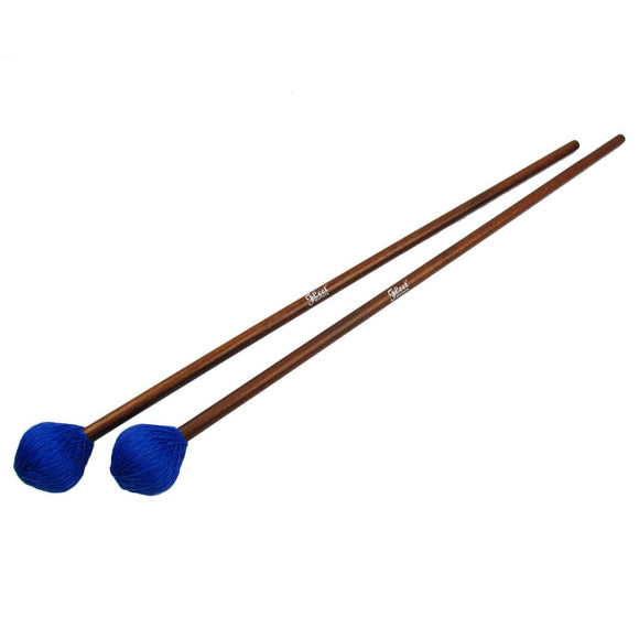 FLEET Pair of Marimba Mallets Drum Mallets Light Blue Head & Maple Sticks For Aggressive Playing - iknmusic