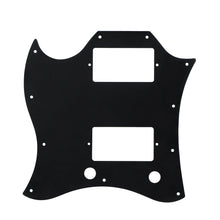 Load image into Gallery viewer, FLEOR Full Face SG Guitar Pickguard Scratch Plate 3Ply PVC w/Screws for SG Guitar Parts , Black/White Available - iknmusic