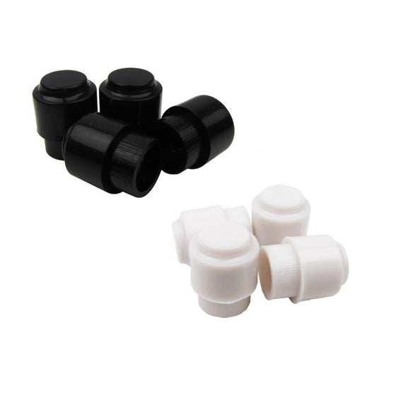 FLEOR 12PCS Plastic Guitar Switch Tips Caps Knobs Buttons for Tele Electric Guitar Parts, Black/ White - iknmusic