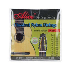 Alice 10-String Classical Guitar Strings Set Nylon & Copper Alloy Wound Normal Tension AC1032C - iknmusic