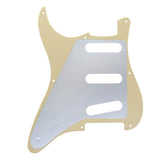 FLEOR Vintage 8 Holes SSS Guitar Pickguard Scratch Plate with Screws for Electric Guitar Parts - iknmusic