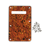 FLEOR Celluloid Guitar Tremolo Spring Cavity Cover Back Plate 4Ply with Screws for Strat Electric Guitar - iknmusic