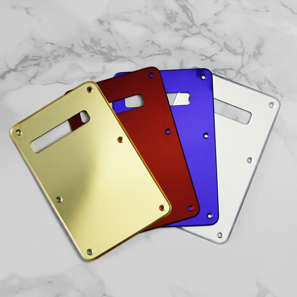 FLEOR 1Ply Mirror Color Guitar Back Plate Tremolo Cover with Screws for FD Strat Electric Parts - iknmusic
