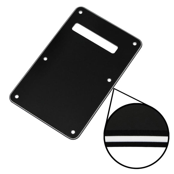 FLEOR PVC 3ply Guitar Back Plate Backplate Tremolo Cover with Screws for Stratocaster Strat Style Guitar - iknmusic