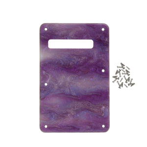FLEOR Shell Color Strat Guitar Back Plate Tremolo Cover 1Ply with Screws for American Modern Standard Strat Style Guitar Parts - iknmusic