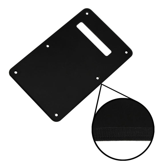 FLEOR 1Ply Plastic Strat Guitar Back Plate Tremolo Cover Scratch Plate with Screws for Guitar Parts - iknmusic
