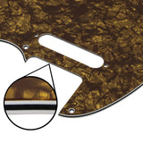 FLEOR Celluloid Tele Guitar Pickguard Scratch Plate 4ply with Screws for USA Standard 8 Holes FD Tele Style Guitar - iknmusic