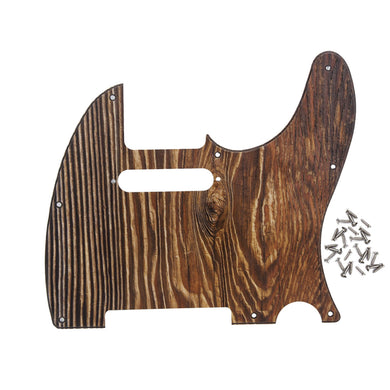 FLEOR Wood Color Tele Guitar Pickguard Scratch Plate | iknmusic