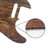 FLEOR Wood Color Standard Tele Guitar Pickguard Scratch Plate PVC 3ply with Screws for Tele 8 Hole - iknmusic