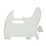 FLEOR PVC Guitar Pickguard Scratch Plate with Screws for US Standard 8 Holes FD Tele Style Guitar - iknmusic