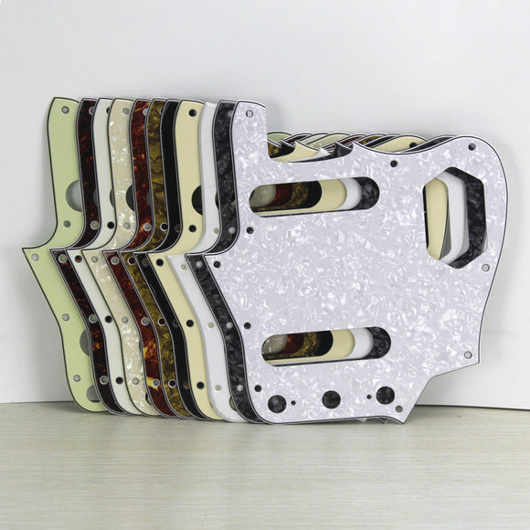 FLEOR Guitar Pickguard Scratch Plate for Jaguar Style Guitar Parts,13 Colors Available