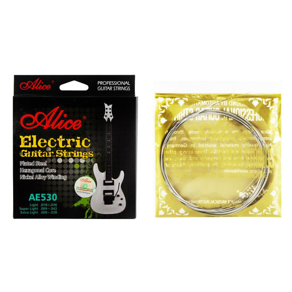 Alice Electric Guitar Strings Set Plated Steel & Nickel Alloy Wound Strings AE530-L Light Tension(.010-.046) - iknmusic