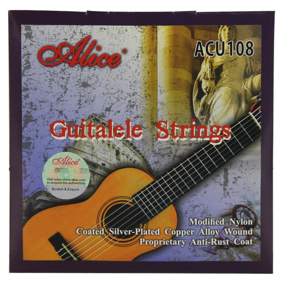 Alice Guitalele 6 Strings Set ACU108 Modified Nylon & Coated Silver-Plated Copper Alloy Wound Strings for 28