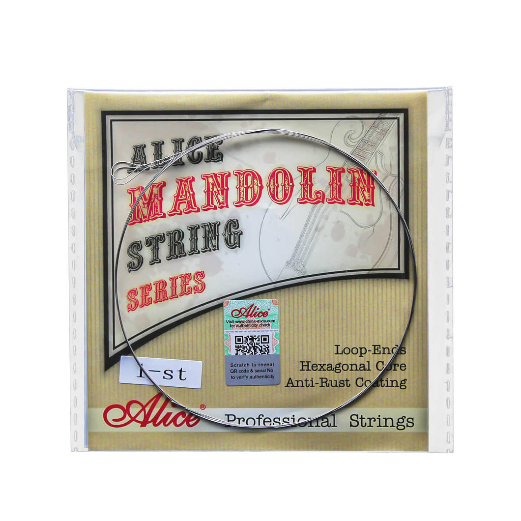 Alice Mandolin Strings Plated Steel E-1st String .010 | iknmusic