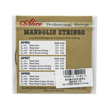 Load image into Gallery viewer, Alice Mandolin Strings Plated Steel E-1st String .010 | iknmusic