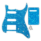 FLEOR Set of 11 Hole SSH Pickguard Back Plate with Screws for Strat Electric Guitar ,18 Colors Available - iknmusic