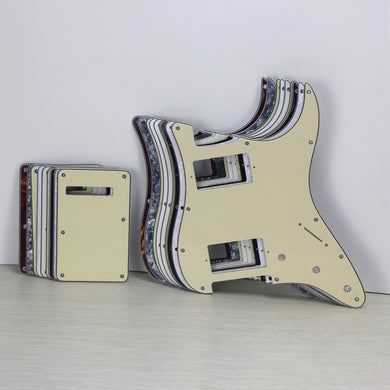 FLEOR Set of HH Pickguard Guitar Backplate with Screws for Strat 11 Hole,10 Colors Available - iknmusic