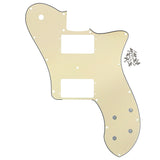 FLEOR 72 Tele Deluxe Reissue Guitar Pickguard Scratch Plate w/Screws for Tele Guitar Parts - iknmusic